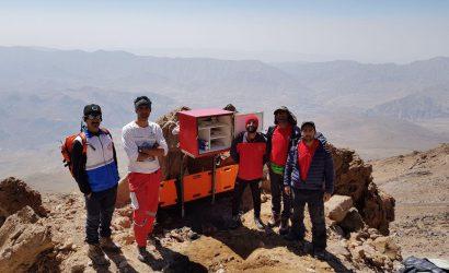 نصب جعبه امدادی در ارتفاعات حصارچال و دماوند