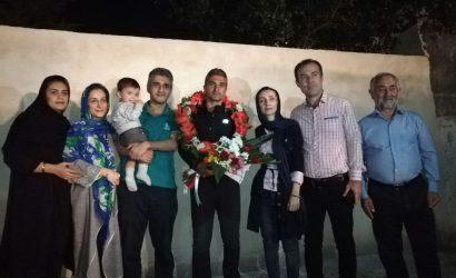 استقبال از حسن خزایی غارنورد باشگاه کوهنوردی البرز نوشهر