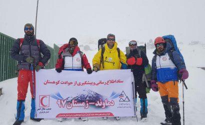 گزارش ستاد اطلاع رسانی  و پیشگیری از حوادث کوهستان ۱۹ الی ۲۲ بهمن ۹۷