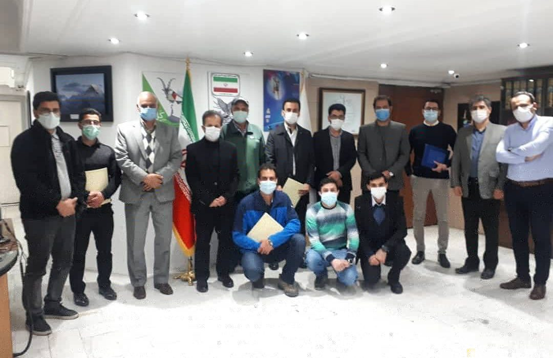 مراسم تقدیر از عملکرد اعضای کارگروه جستجو و نجات استان مازندران در محل فدراسیون